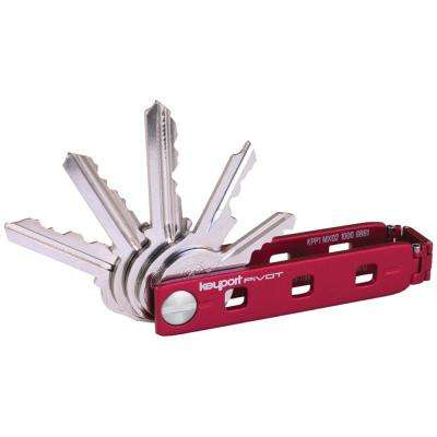 Pivot Key Organizer with KeyportID Lost and Found Service (Red)
