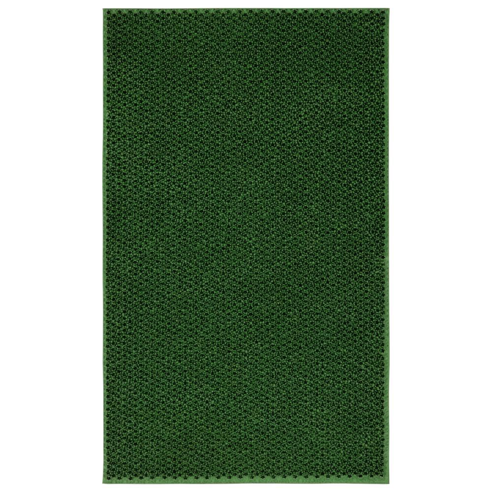 Rubber Doormat Collection Green Elanji 18 in. x 30 in. Rubber Door Mat
