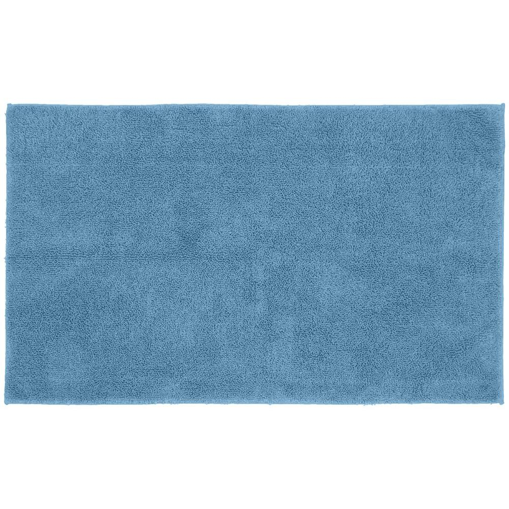 Garland Rug Queen Cotton Sky Blue 30 in. x 50 in. Washable ...