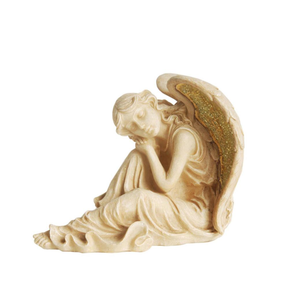 12 in. Winged Resting Angel Statue