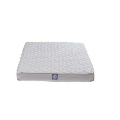 Essential 6 Reversible Coil Full Size White Mattress, with CertiPUR-US Certified Foam