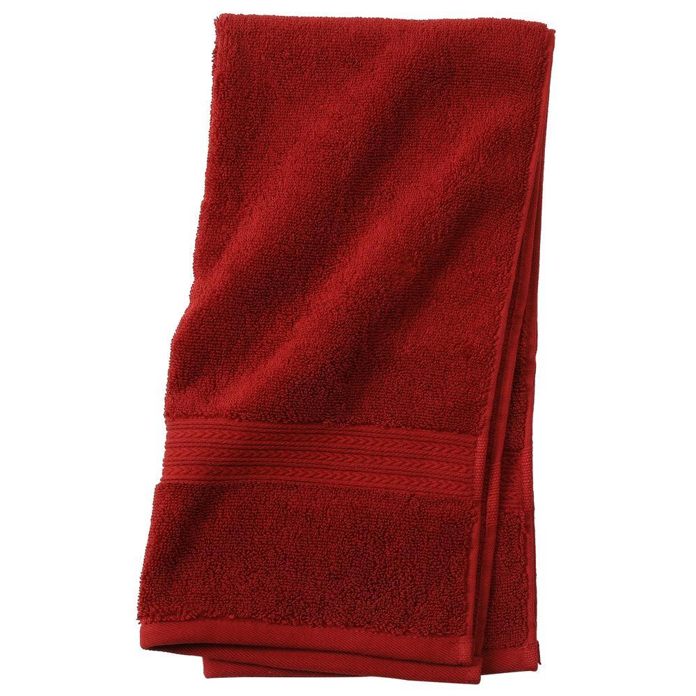 Newport 1-Piece Hand Towel in Garnet Red