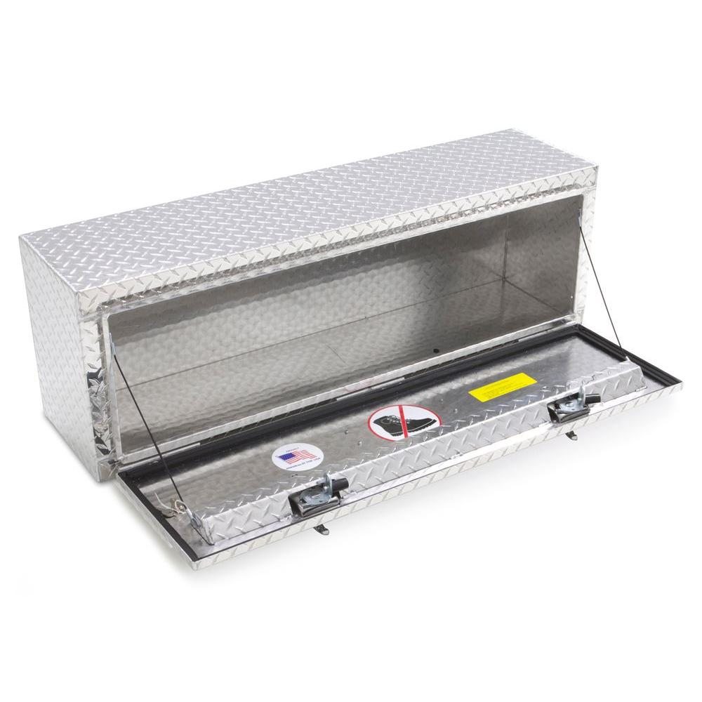 Lund 8160 60-Inch Aluminum Top Mount Truck Tool Box Diamond Plated Silver