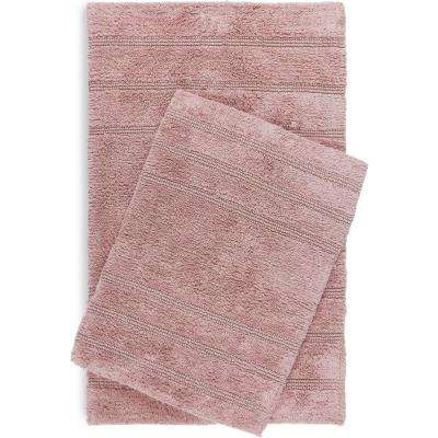 Newton Fawn Stripes 2-Piece (17 in. x 24 in.; 21 in. x 34 in.) Bath Mat Set