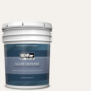 Behr Ultra 5 Gal W B 600 Luster White Extra Durable Satin Enamel Interior Paint Primer 775005 The Home Depot