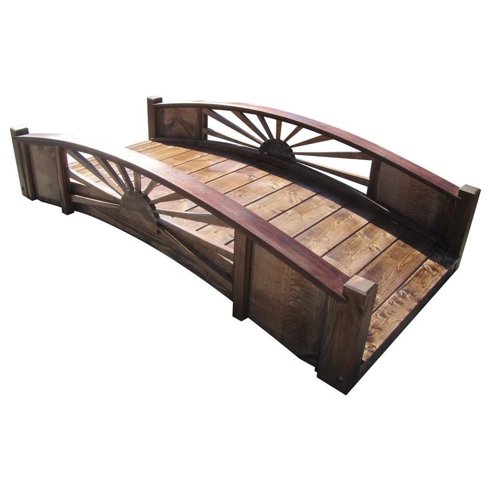SamsGazebos 6 ft. Treated Sunburst Bridge