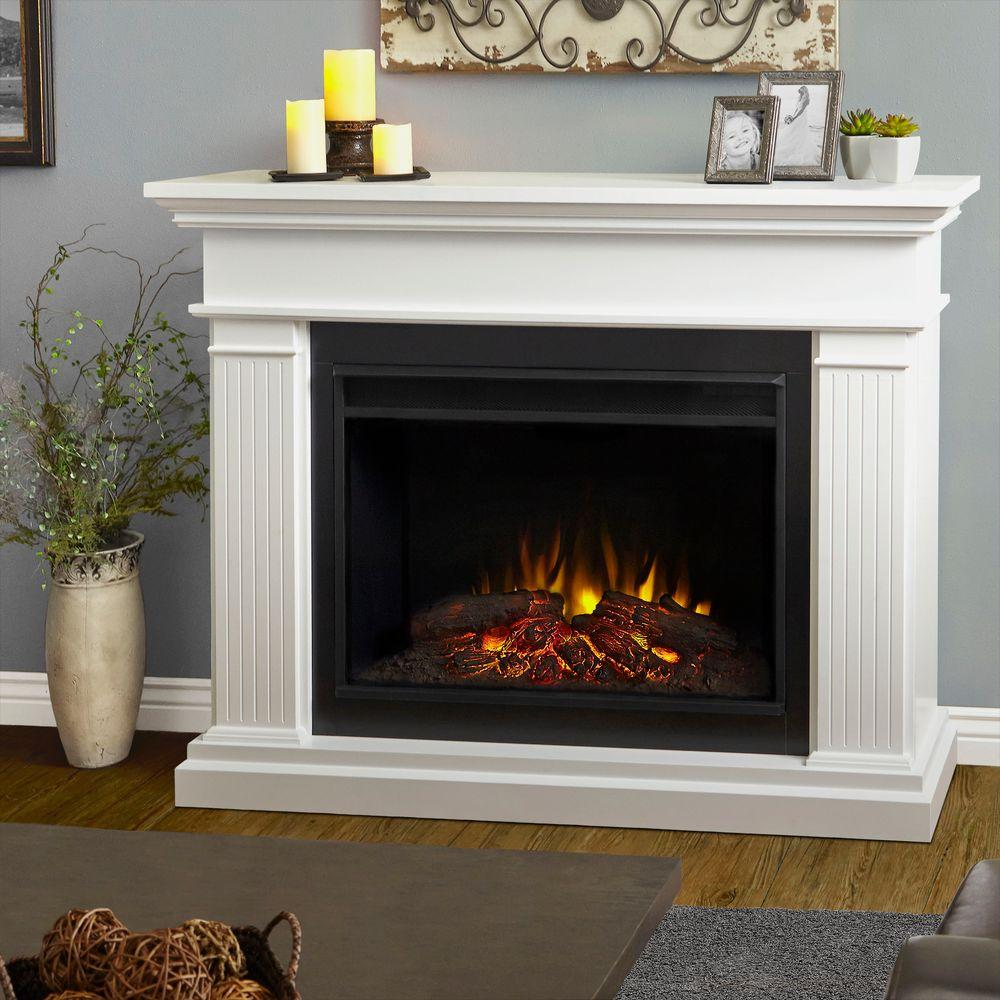 Turn up the charm of your home decor with this Real Flame Kennedy White Grand Series Electric Fireplace. Offers dynamic ember effect.