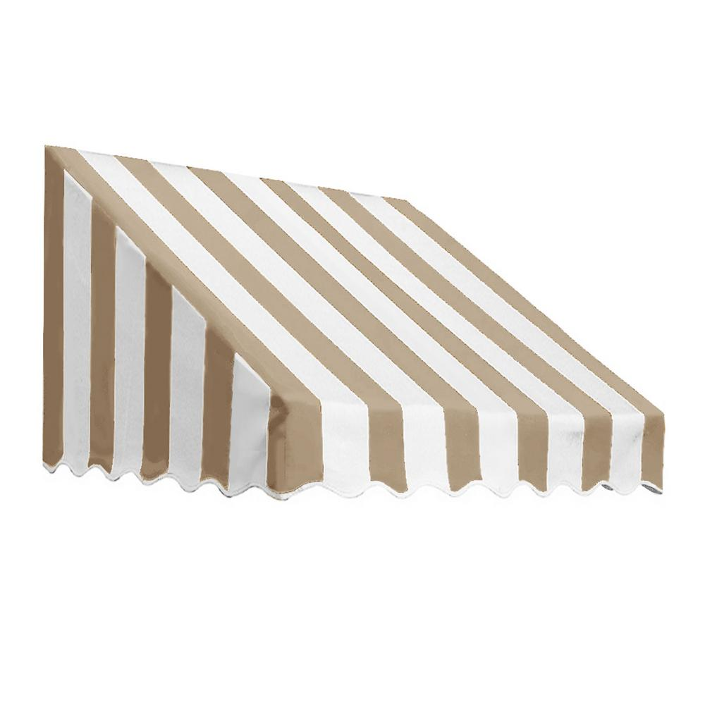AWNTECH 3.38 ft. Wide San Francisco Window/Entry Awning (16 in. H x 30 in. D) Linen/White