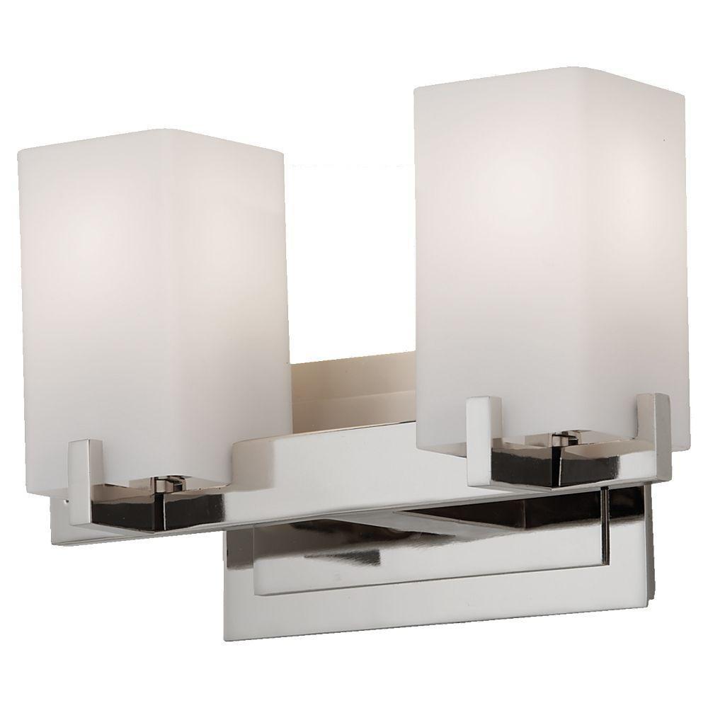 Feiss Riva 2-Light Polished Nickel Vanity Light-VS18402-PN - The ...