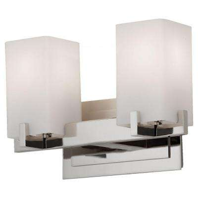 Riva 2-Light Polished Nickel Vanity Light