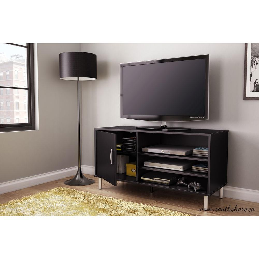 South Shore Renta Pure Black Storage Entertainment Center