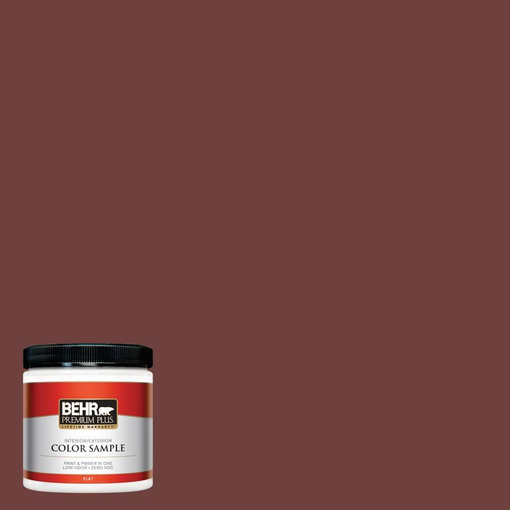 8 oz. #ICC-82 Library Red Interior/Exterior Paint Sample