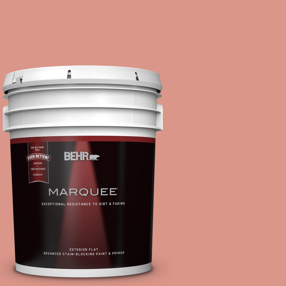 BEHR MARQUEE 5-gal. #180D-4 Coral Serenade Flat Exterior Paint ...