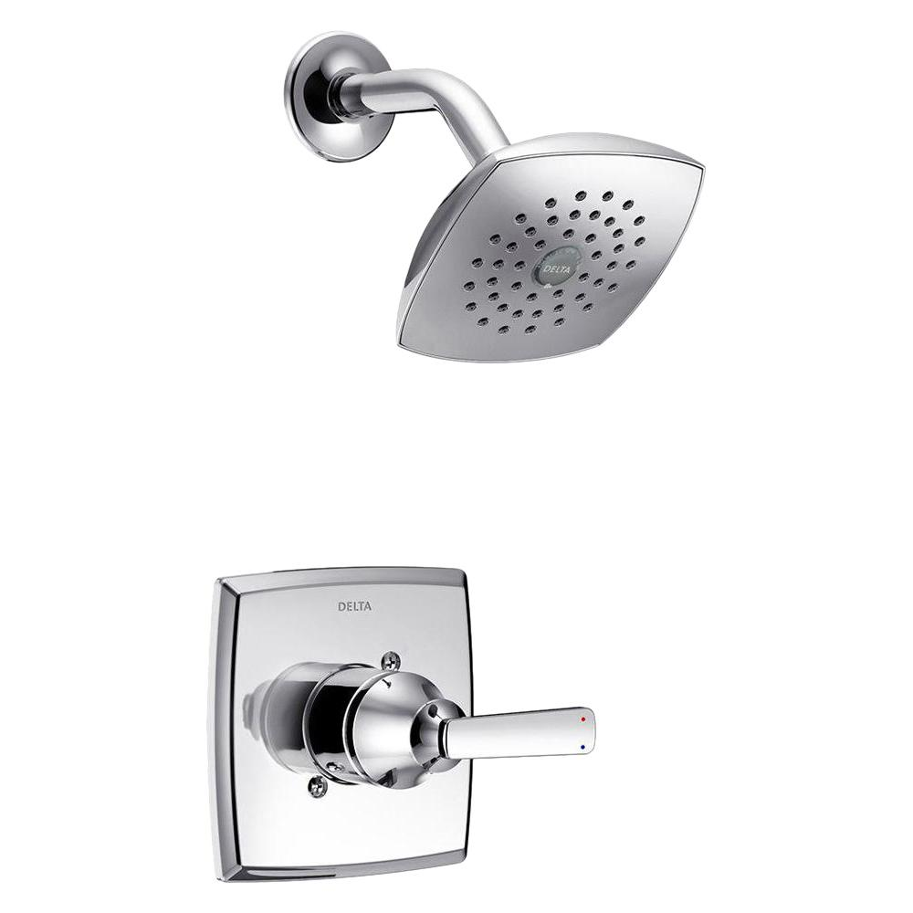 Delta Ashlyn 1 Handle Pressure Balance Shower Faucet Trim Kit In Chrome Valve Not Included