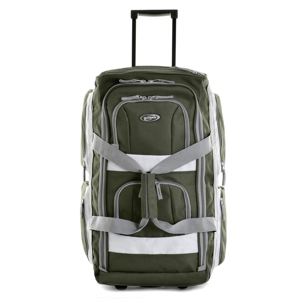 Olympia USA 22 in. Green 8-Pocket Rolling Duffel 4f7a42c9c9225
