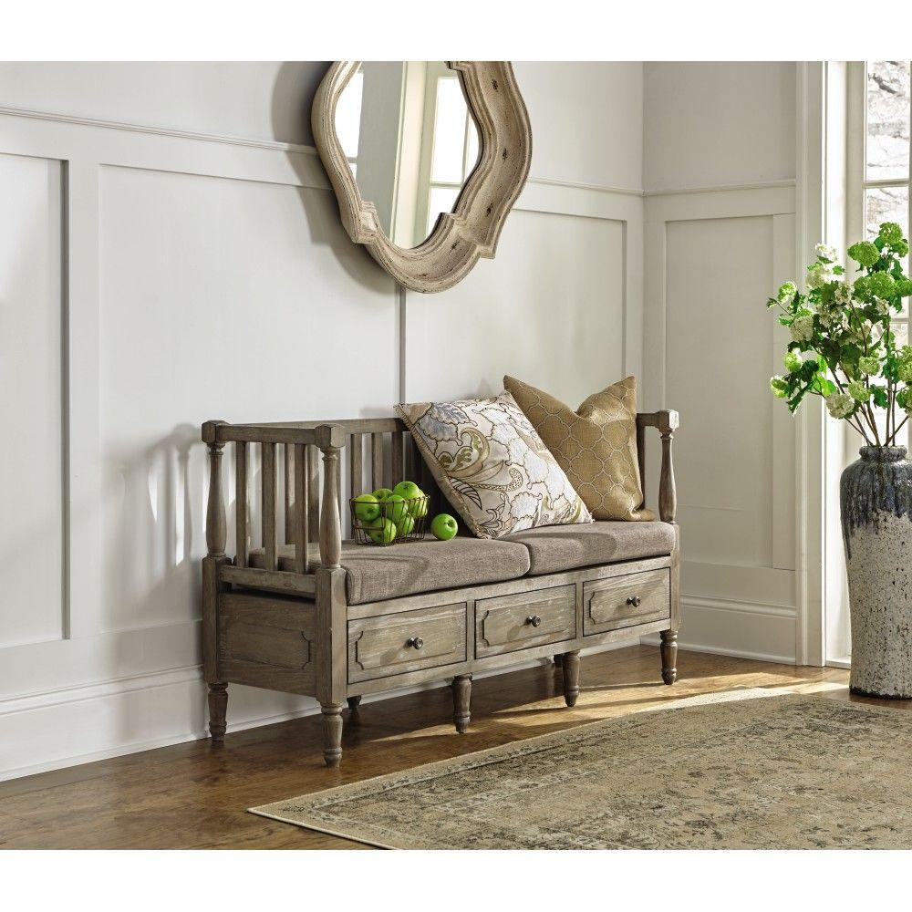 Foyer Bench Zoo : Entryway furniture with storage home ideas