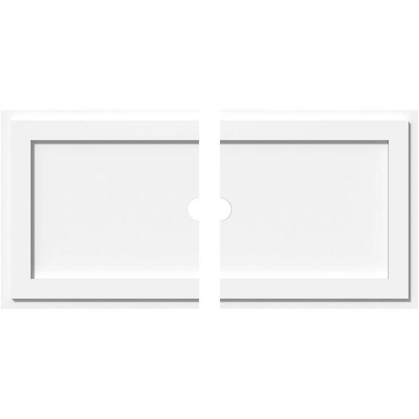 Ekena Millwork 34 In W X 17 In H X 1 In Id X 1 In P Rectangle Architectural Grade Pvc Contemporary Ceiling Medallion 2 Piece 192770572990 The Home Depot
