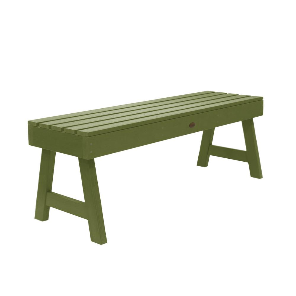 Highwood Weatherly 48 in. 2-Person Dried Sage Recycled Plastic Outdoor Picnic Bench