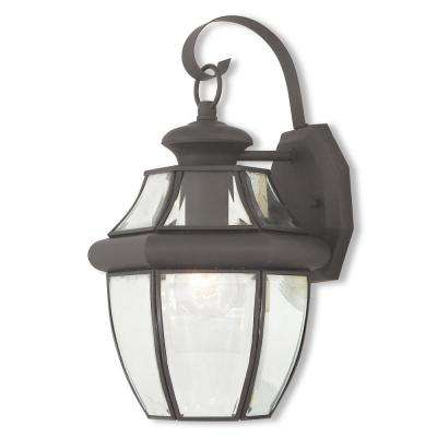 Monterey 1-Light Bronze Outdoor Wall Mount Lantern