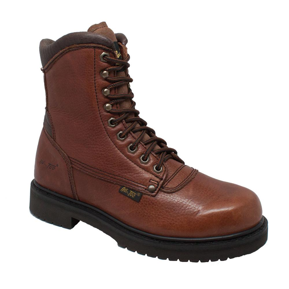 5c7186058dd1 Adtec Men s Wide 12 Brown Full-Grain Tumbled Leather Work Boot-1623 ...