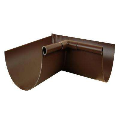 5 in. Royal Brown Aluminum Half Round Inside Mitre