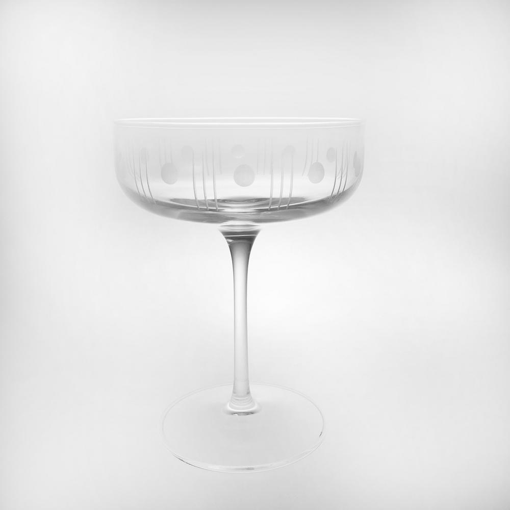 8440c9e0626 Rolf Glass Mid-Century Modern 10 oz. Clear Coupe (Set of 4)-502335-S4 - The  Home Depot