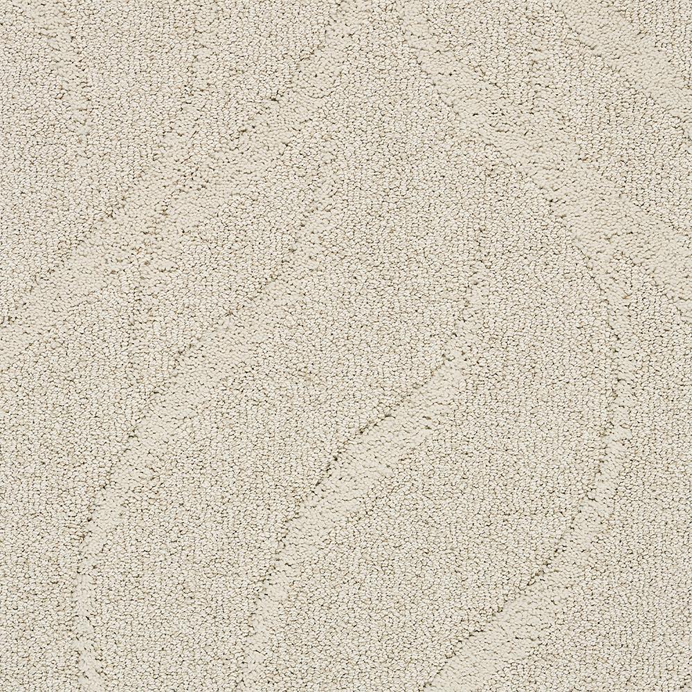 Carpet Sample - Framed Artwork - Color Antique Lace Pattern 8 in. x 8 in.