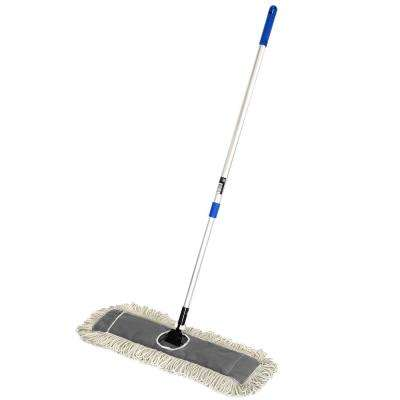 24 in. Cotton Dust Mop Set with Telescopic Handle
