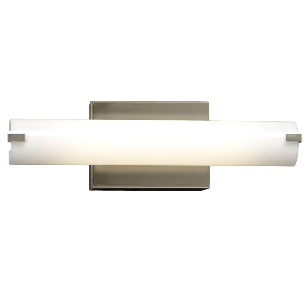 Filament Design Negron 1-Light Brushed Nickel Fluorescent Bath Vanity
