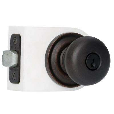Reserve Round Venetian Bronze Entry Knob with Traditional Round Rose