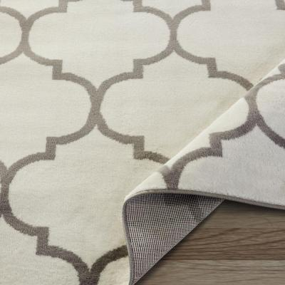 King Collection Moroccan Trellis Cream 5 ft. x 7 ft. Indoor Area Rug