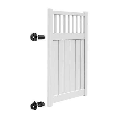 Missouri 4 ft. W x 6 ft. H White Vinyl Un-Assembled Fence Gate