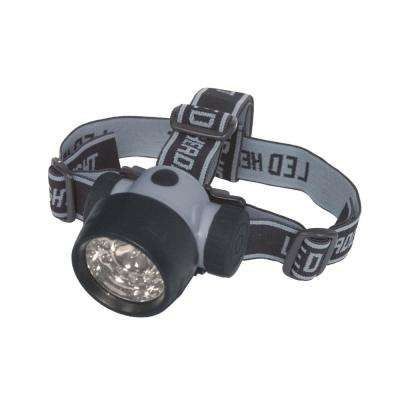 Battery Operated LED Lycra Headband Light - Black