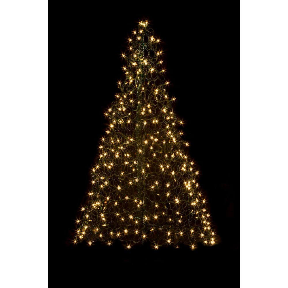 crab pot trees 5 ft indooroutdoor pre lit incandescent artificial christmas tree - Lighted Christmas Tree Yard Decorations