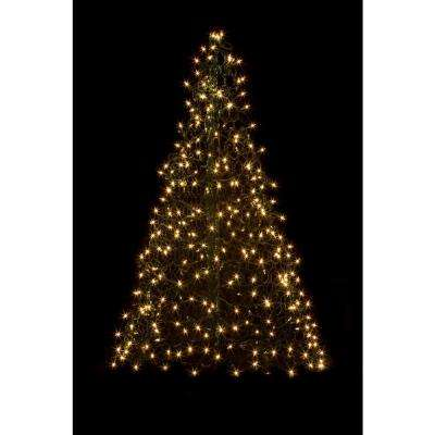 5 ft. Indoor/Outdoor Pre-Lit Incandescent Artificial Christmas Tree with Green Frame and 350 Clear Lights