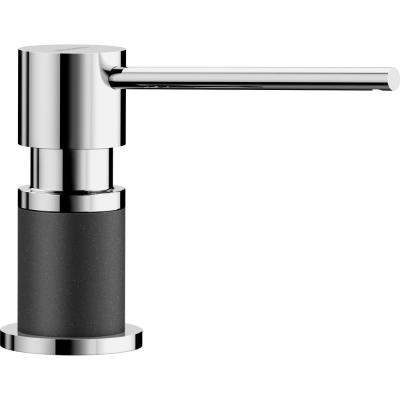 Lato Deck-Mounted Soap and Lotion Dispenser in Anthracite and Chrome
