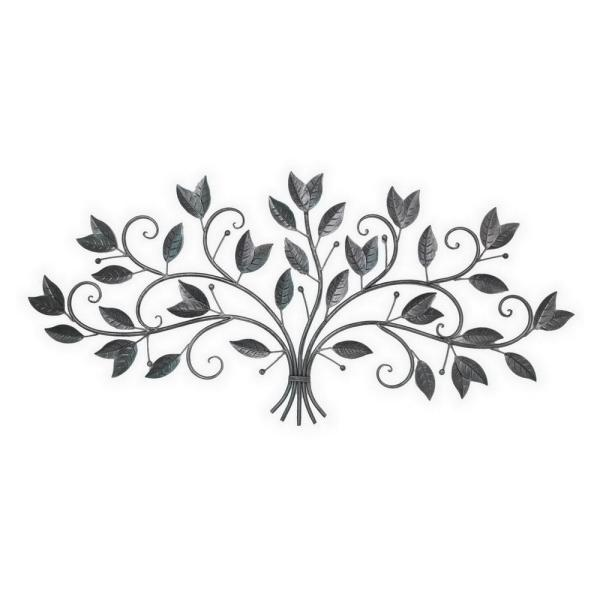 THREE HANDS 44 in. x 0.25 in. Leaf Wall Art in
