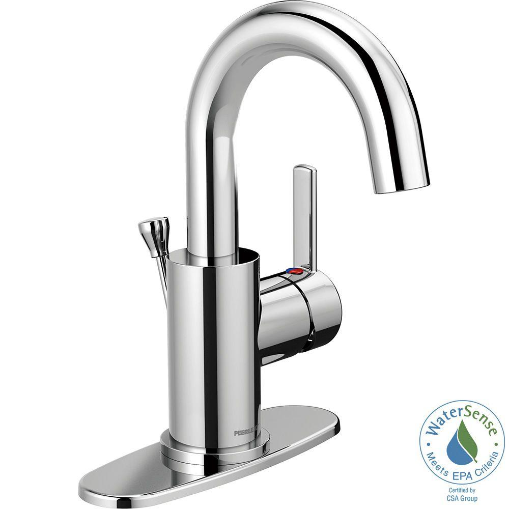 Peerless Apex 4 in. Centerset Single-Handle Bathroom Faucet in ...