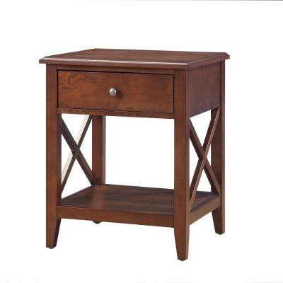 Wesley Walnut Side Table