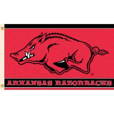 NCAA University of Arkansas 3 ft. x 5 ft. Collegiate 2-Sided Flag with Grommets