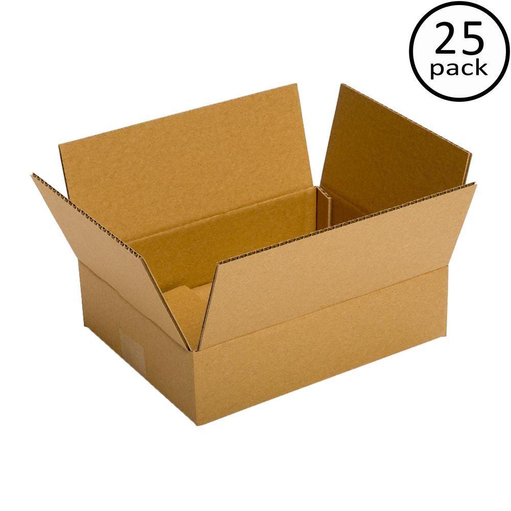 Plain Brown Box 12 in. x 8 in. x 6 in. 25-Box Bundle