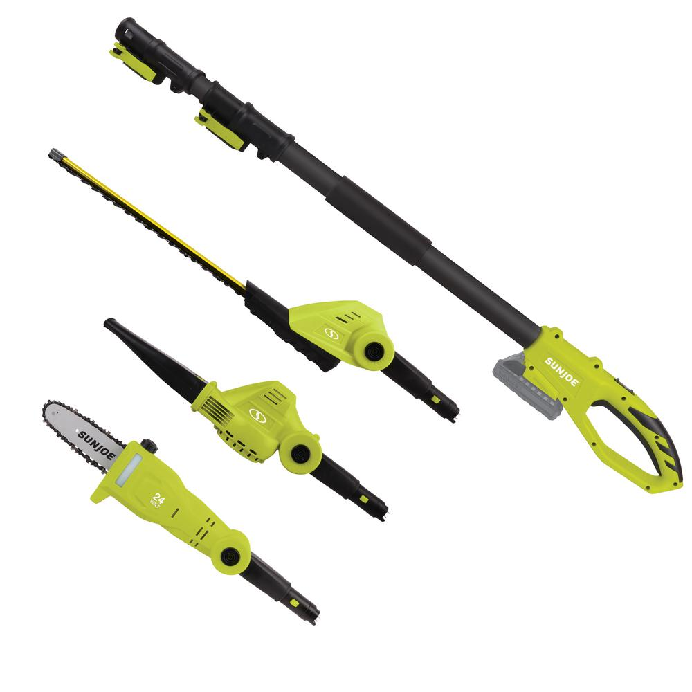 24-Volt Cordless Lawn Care System Hedge Trimmer, Pole Saw, Leaf Blower