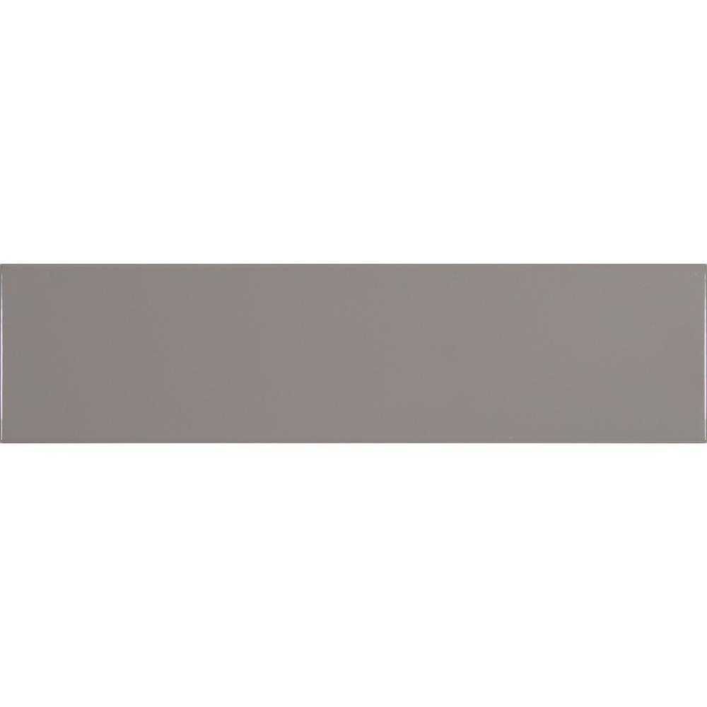 MSI Gray 4 in. x 12 in. Glazed Ceramic Wall Tile
