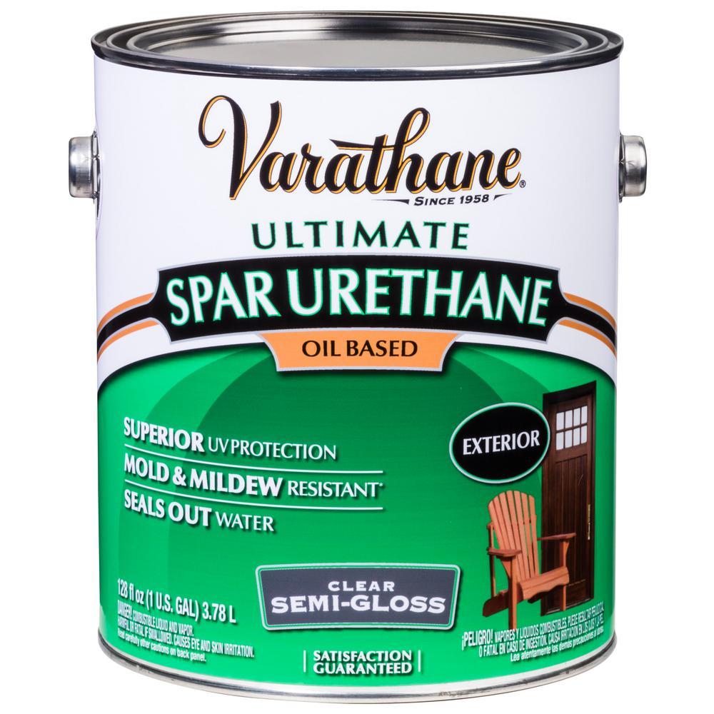 1 gal. Clear Semi-Gloss 275 VOC Oil-Based Exterior Spar Urethane (2-Pack)