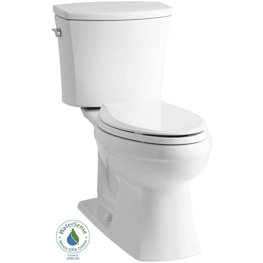 kohler kelston comfort height 2 piece gpf elongated toilet in white with cachet q3 toilet. Black Bedroom Furniture Sets. Home Design Ideas