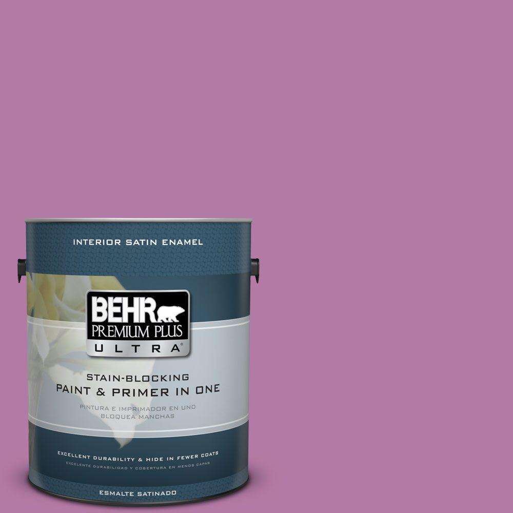 1 gal. #HDC-SP16-11 Cactus Flower Satin Enamel Interior Paint