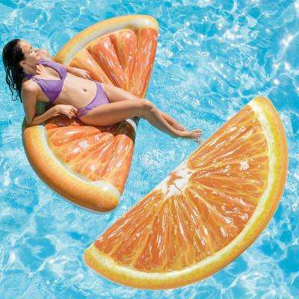 Orange Slice Mattress Pool Float (2-Pack)