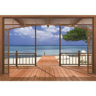 106 in. x 153 in. El Paradiso Beachfront Deck Mural