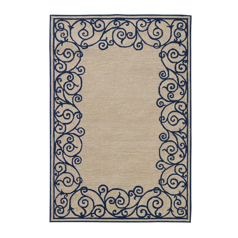 Home Decorators Collection Estate Blue 3 ft. 6 in. x 5 ft. 6 in. Area Rug