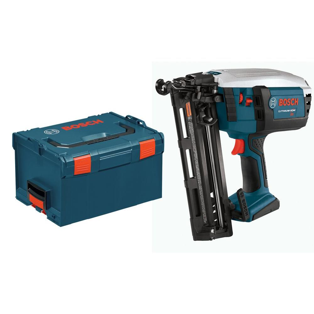 Bosch 18-Volt Lithium-Ion 16 Gal. Cordless Nailer with L-Boxx3